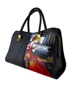 mano 14 a valigie scarpe in dipinte Borse fantastiche immagini arx8wqTa f18fead512e