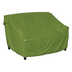 Classic Accessories Sodo Medium Patio Sofa/Loveseat Cover in Green