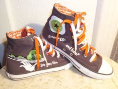 49.99 Converse Chuck Taylor Dr. Seuss High Top Shoe Size 6 - Green Eggs and 68992d5ff