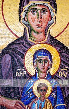 Mosaic of the Virgin Mary, Kykkos Monastery, Troodos, Cyprus