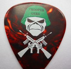 Official JANICK GERS IRON MAIDEN Trooper Gers  06- 07 Tour GUITAR PICK