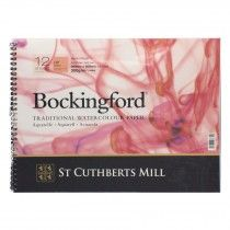 Bockingford Watercolour Pad Spiral Bound Paper 12 Sheets 14 X 10