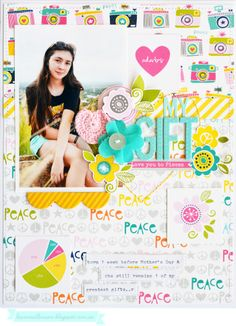 Bella Blvd_Leanne Allinson_WNW_my gift Baby Scrapbook Pages, Baby Boy Scrapbook, Scrapbook Page Layouts, Scrapbook Paper Crafts, Scrapbook Cards, Scrapbooking Ideas, Love You To Pieces, Picture Layouts, Book Journal