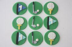 12 Fondant cupcake toppersgolf by PastelFiesta on Etsy, $15.00