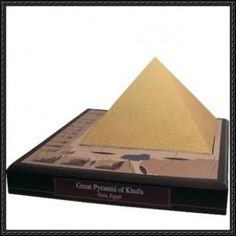 The difficulties of constructing a scale model of the great pyramids of giza