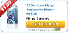 $5.00 off one Philips Sonicare toothbrush for Kids