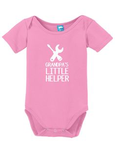 Grandpas Helper Bodysuit Onesie Funny Bodysuit Baby Romper Clothe your young ones while having fun! These adorable onesies that are sure to bring a :) to everyone. Super soft cotton body suits with sn