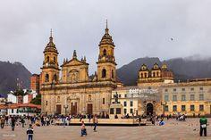 Stock Photo : Bogota, Colombia - Plaza Bolivar Classical Spanish Colonial Architecture