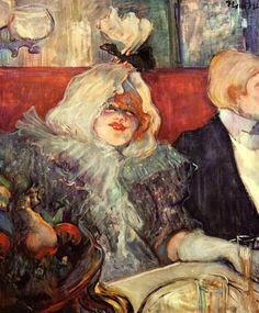 """Henri de Toulouse-Lautrec - At the """"Rat Mort"""". Lucy Jourdan, Private Room No.7, 1899"""