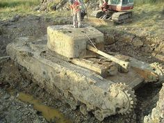 CHURCHILL  TANK UNEARTHED