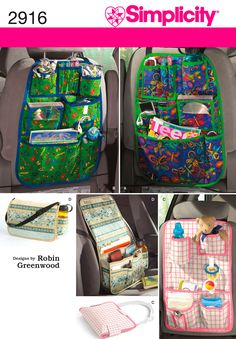 Car Organizers Sewing Pattern 2916 Simplicity