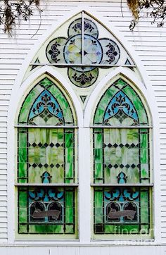 Stained glass window in McIntosh, Florida