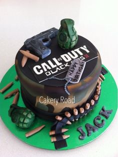 Call of Duty Black Ops Game Birthday Cake - shareacake.me - ShareaCake.me