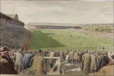 St James' Park, Newcastle, by Byron Dawson Newcastle United Football, Newcastle University, History Of England, St James' Park, Saint James, His Travel, Local History, Old West, Saints