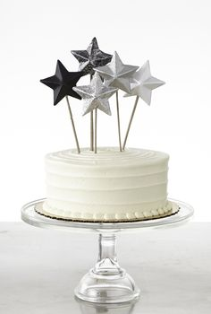 Glittered cake toppers for any occasion from #marthastewartcrafts
