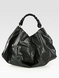 Bottega Veneta Coated Linen Shoulder Bag.  I LOVE this bag.  Fits everything and much lighter than most large bags.