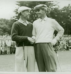 Ben Hogan congratulates Jack Fleck after he beat Hogan by three strokes in an 18-hole playoff at the 1955 U.S. Open at the Olympic Club. You can see more on Fleck's victory, considered one of the greatest upsets of all time, in these 1955 U.S. Open highlights provided to Golf.com by the USGA.