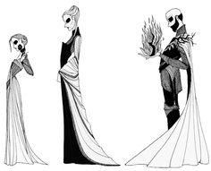 """Shireen Baratheon, Queen Selyse Florent, and King Stannis Baratheon from the """"A Song of Ice and Fire"""" series."""