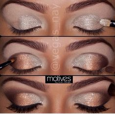 I love the idea of glitter eye shadow to match my vision of an enchanted forest wedding.