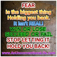 Get started conquering your fears today!