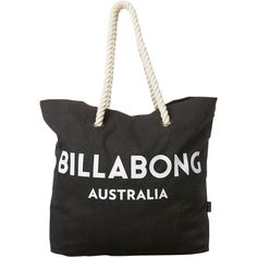 40103240c3898b Billabong Essential Beach Bag Black ($24) ❤ liked on Polyvore featuring bags,  handbags, accessories, black, women, beach bag, billabong bags, ...