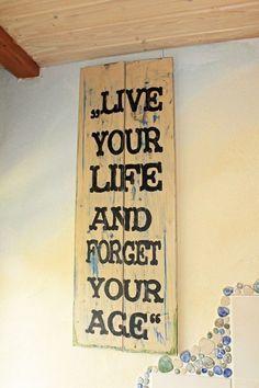 Wand-Deko - Holzschild im Vintage Style - ein Designerstück von Linda-Thom bei DaWanda