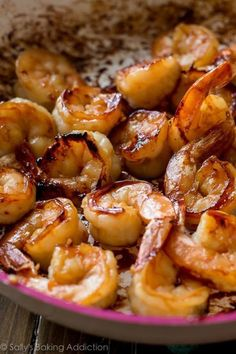 Easy, healthy, and on the table in about 20 minutes! Honey garlic shrimp recipe on sallysbakingaddic. Shrimp Recipes Easy, Fish Recipes, Seafood Recipes, Cooking Recipes, Healthy Recipes, Healthy Dinners, Frozen Cooked Shrimp, Sallys Baking Addiction, Shrimp Dishes
