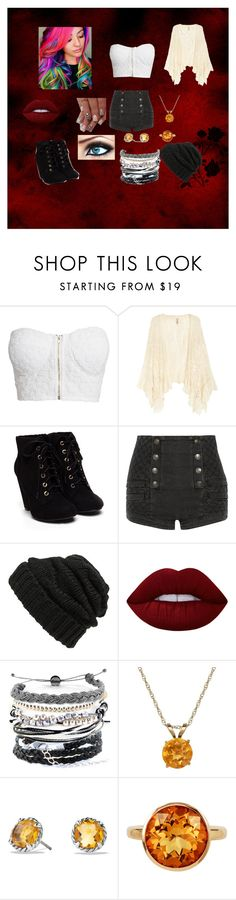"""Untitled 3"" by jazzied on Polyvore featuring NLY Trend, Pierre Balmain, Leith, Lime Crime, Domo Beads, Everlasting Gold, David Yurman and Plukka"
