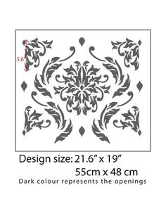 Decorative Damask Wall Stencil for DIY project, Decorative Wallpaper look and easy Home Decor. StenCilit design means quality by all means.