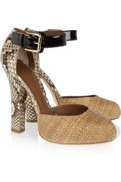 Raffia and python pumps by Dolce & Gabbana