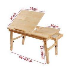 Solid Wood Foldable Notebook Laptop Table, Adjustable Height U0026 Angle  Folding.