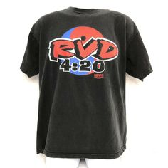 e98b6005 Extreme Wrestling Vintage T Shirt Large ECW Rob Van Dam Smoked Your Ass 420  RVD