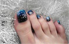 Christmas toe nail design - Diseños de uñas de los pies para navidad