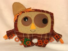 Scarecrow Cuddle Monster by JojoBeanSewSweet on Etsy