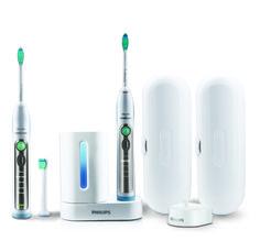 Dwupak szczoteczek sonicznych do zębów dla dwojga Philips Sonicare FlexCare Plus.  http://spadental.pl/szczoteczka-elektryczna-philips-sonicare-flex-care-plus-dwupak-521