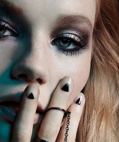 Dark and dramatic beauty inspiration from Nylon magazine #beauty #nails #ring