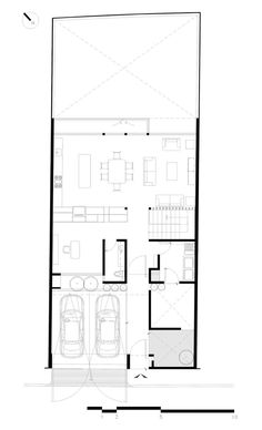 A Very Authentic House with Its Own Expression House Roof, Facade House, Dream House Plans, House Floor Plans, Architecture Drawing Plan, Japanese Style House, Architectural Floor Plans, Villa Plan, Casa Patio