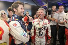 Marco and Mario Andretti  ( Nick Laham / Getty Images / May 27, 2012 )  IndyCar driver Marco Andretti, left, shares a laugh before the race Sunday with his grandfather, Mario Andretti, the 1969 Indy 500 winner.