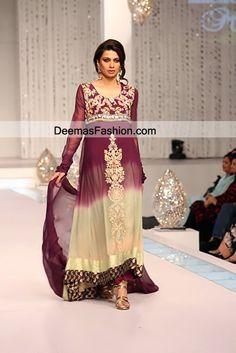 pakistani maxi dresses 2012 | Pakistani Eid Dresses Double Tone Eid Wear Aline Dress | Latest ...
