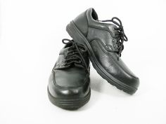 quality design 2a1d0 ab863 Hunters Bay Mens Walking Work Shoes Black Pebbled Leather Oxford Lace Up  11W HuntersBay