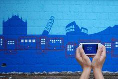 """Questa è la murata realizzata a Napoli dall'Associazione Arteteca dedicata al capitolo del Bilancio di Sostenibilità di Vodafone Italia """"Il contributo di Vodafone Italia al Paese"""" http://voda.it/XNmaXx"""