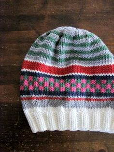 Knitted hat[free pattern]