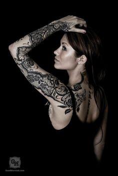 ~ Lace Sleeve Tattoo Design by Susanne Yvonn Pettersen ~