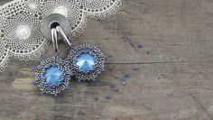 Forget-me-not – kolczyki z kryształkami Swarovski Rivoli – tutorial   Royal-Stone blog