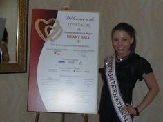 Miss Teen International 2010, Juliana McKee volunteered at the Washington Heart Ball!