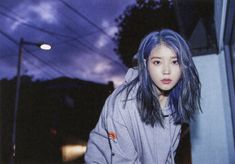 Photo album containing 66 pictures of IU Iu Hair, Blue Wig, Human Wigs, Green Hair Colors, Lace Hair, Brown To Blonde, Silky Hair, Ulzzang Girl, Look Cool