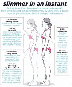 Correct posture can improve the way you look :)