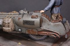 Railbike scale model by Chris Binnett. #dieselpunk #bike