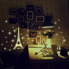 Eiffel Tower Fluorescent Window Wall Stickers Home Decor Living Room DIY Art Luminous Snowflake Decal Home Decoration Sticker Wall Stickers Glow In The Dark, Kids Room Wall Stickers, Wall Stickers Home Decor, Wall Stickers Murals, Wall Decal Sticker, Vinyl Decals, Wall Art Wallpaper, Mural Wall Art, 3d Wall