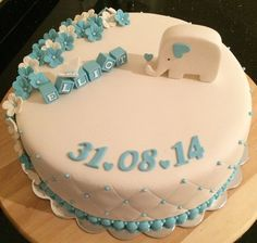 dåpskake gutt - Google-søk Cake Ideas, Babyshower, Fondant, Cake Decorating, Cupcake, Birthday Cake, Decoration, Desserts, Baby Shower
